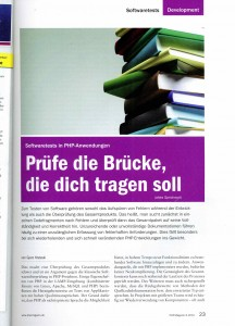 Artikel - Php Magazin 6-10 Software-Tests in PHP-Anwendungen
